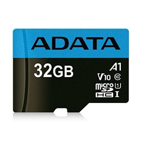 ADATA 32GB Premier Micro SD Card with SD Adapter, UHS-I Class 10 with A1 App Performance